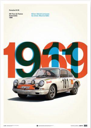 Porsche 911 R Poster – Tour de France – automobilist