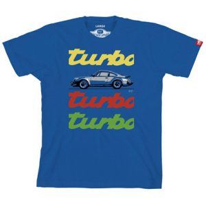 Porsche 930 Turbo Graphic Tee - Blue
