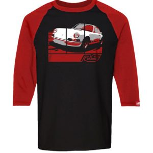 Porsche '73 Carrera RS 2.7 - Retro Graphic Tee - Black/Red