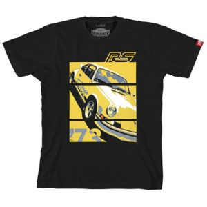 Porsche '73 Carrera RS 2.7 - Graphic Tee - Black (w/ yellow)