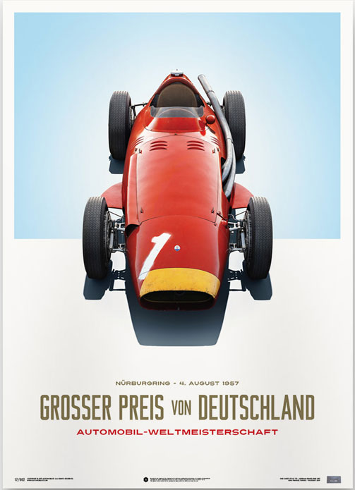 Maserati 250F Poster – German Grand Prix – automobilist