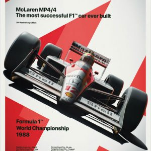 McLaren MP4/4 – Ayrton Senna MP4/4 Poster – automobilist