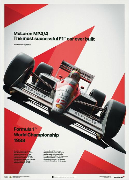 McLaren MP4/4 – Ayrton Senna MP4/4 Poster – automobilist