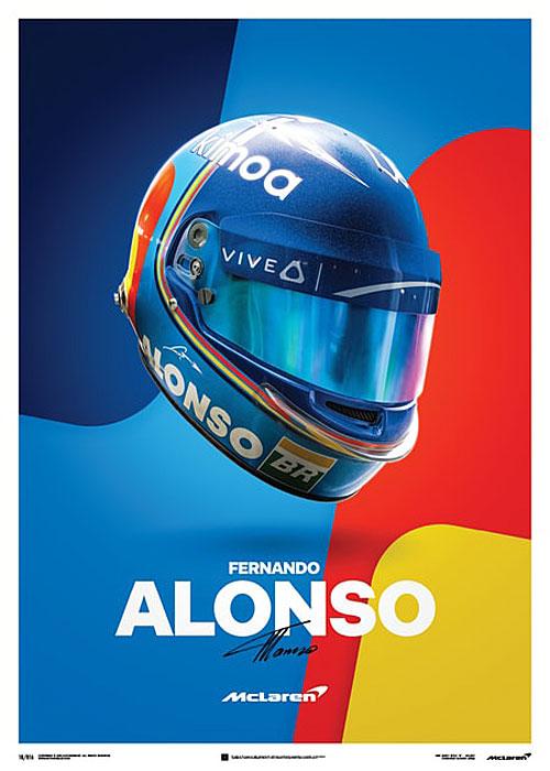 McLaren - Fernando Alonso - Helmet - 2018 – automobilist