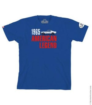 1965 Mustang American Legend Graphic Tee - Blue