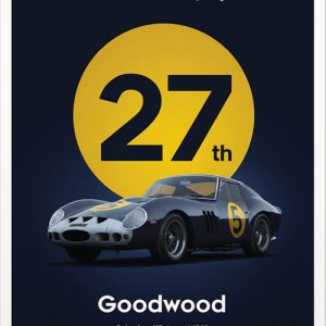 Ferrari 250 GTO – Goodwood Poster – Dark Blue – automobilist