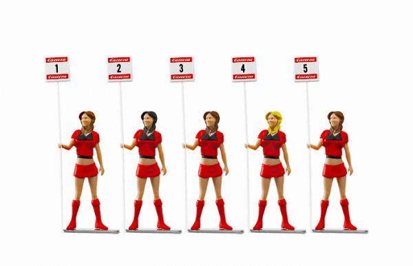 Set of figures Grid Ladies (5 standing)