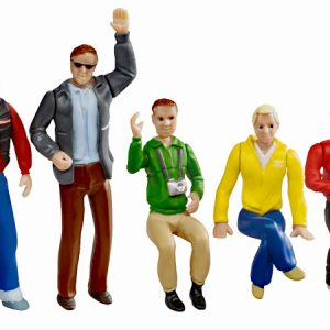 Set of figures - Spectators (5 pcs)