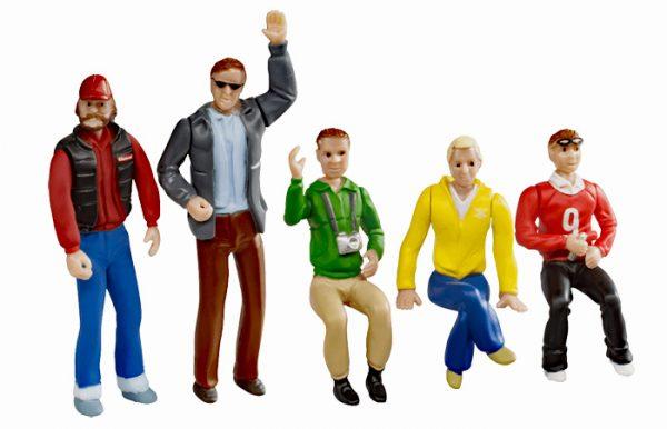 Set of figures - Spectators (5 pcs)