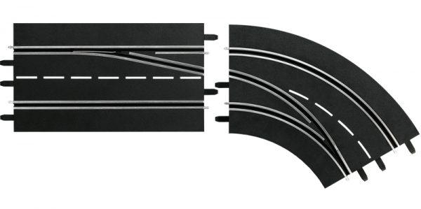 Digital132/124 lane change curve.